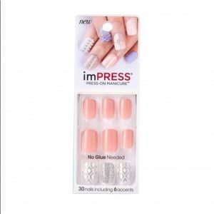 NEW ImPress No Glue Needed Fake Nails Shimmer